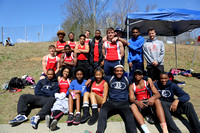 Dinwiddie Track Team and others at the JR Tucker Track Meet 4-4-2015