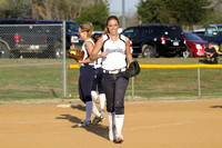 Dinwiddie vs Prince George Girls Softball 4-10-2014