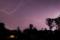 Lightning over St. Michael's Glen Allen, Va