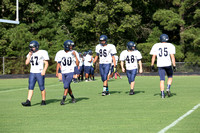 Dinwiddie JV Football Scrimmage at LC Bird 8-20-2014