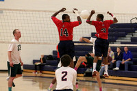 Dinwiddie vs Prince George Boys Volleyball 10-17-2013